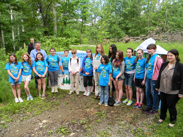 GFMS Go Green Club receive a proclamation from Assemblywoman Sandy Galef